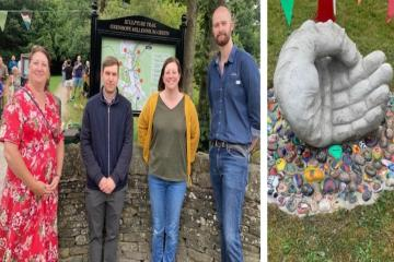 Sculpture trail is launched at Oxenhope