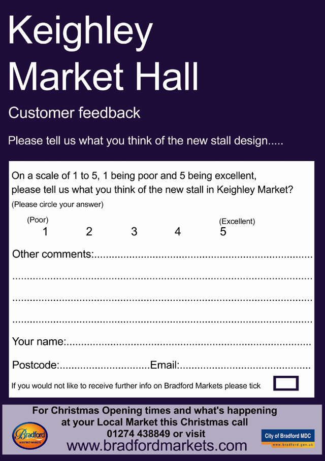 Keighley News: Keighley Market Survey