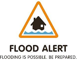 Flood alert for a stretch of the River Aire, which includes Keighley