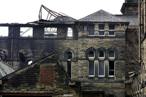 Part of Dalton Mills following a fire in recent years