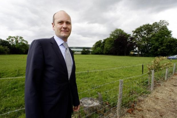 Habasit Rossi managing director Richard Smith stands at the site earmarked for the firm's new factory