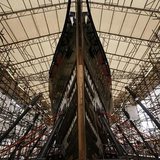 The Cutty Sark in dry berth in Greenwich, east London, during its restoration programme
