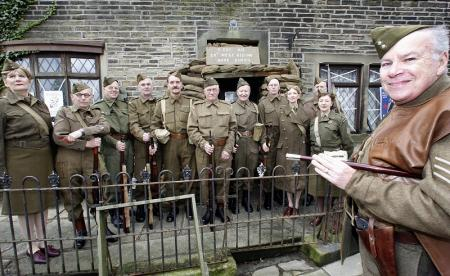 Haworth-based No 1 Platoon, C Company West Riding 28 of the Home Guard on parade