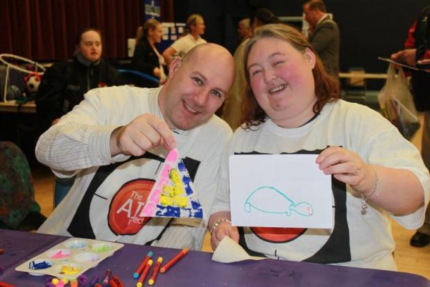 l Paul McDonnell and Chrissie Gleeson show off their creative side at the Learning Disability Awareness Week event
