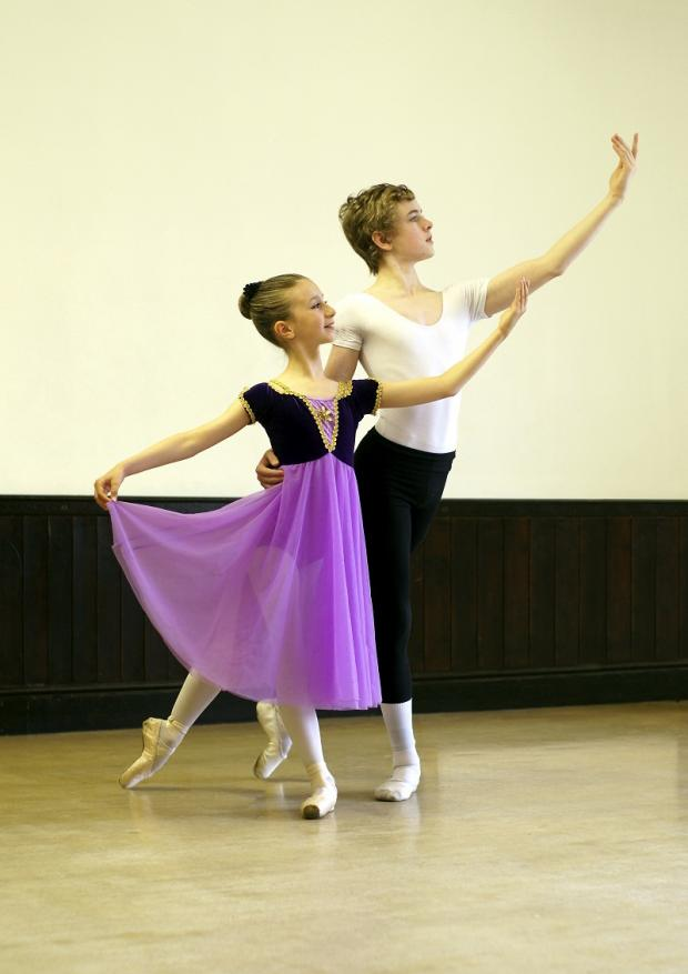 Katie Barber and Barnaby Packham practise for The Nutcracker