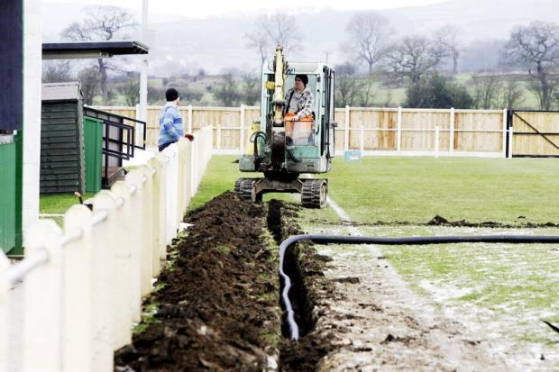 Silsden manager Chris Reape reckons Silsden's Keighley Road ground will always have waterlogging problems, despite extensive drainage work this winter