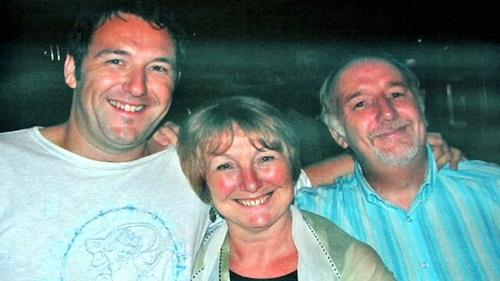 Adam Pickles with his parents Andrew and Adele