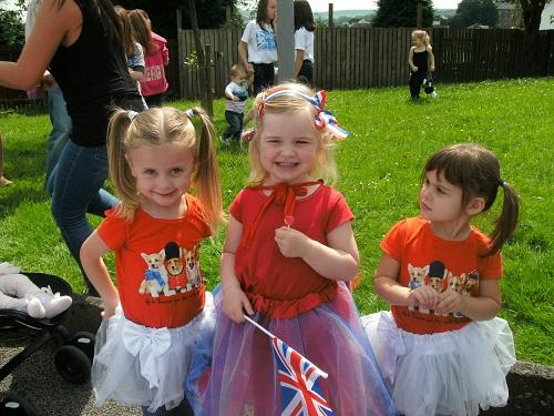 It was a day of dressing up for these three youngsters during the Oakworth gala fun