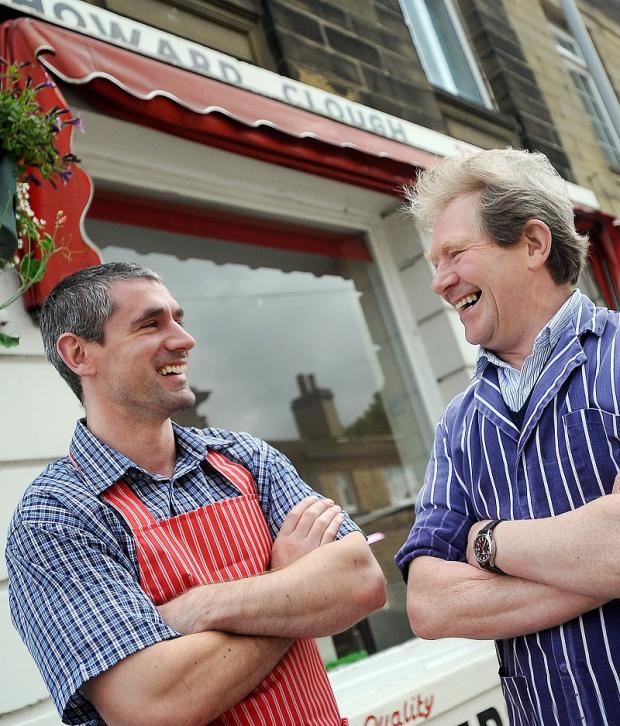 New business owner Richard Arundel, left, and Howard Clough