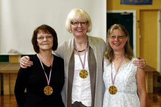 Anne Gallagher, Liz Roxburgh and Margaret Nutter, who are retiring from Steeton Primary School