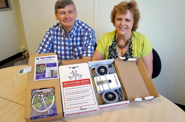 James and Val Muff with their product