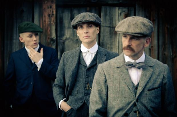 l Some of the cast from Peaky Blinders, from left, Joe Cole as John Shelby, Cillian Murphy as Thomas Shelby and Paul Anderson as Arthur Shelby