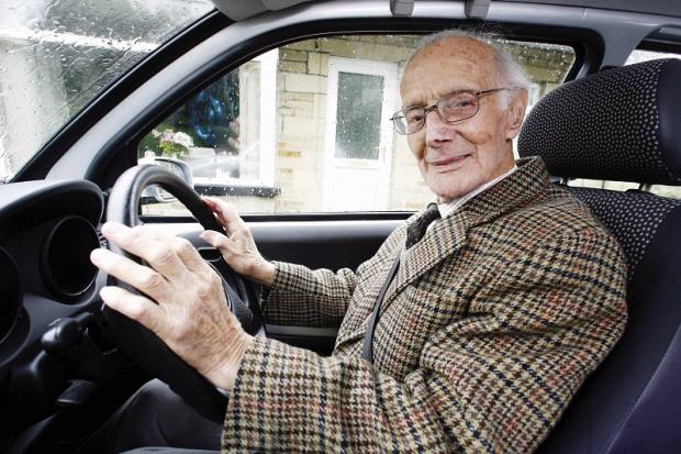 Arthur Whitaker, who is still driving his car at the age of 100