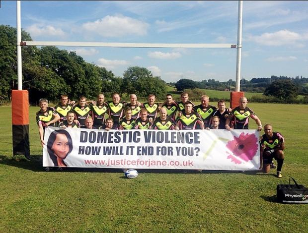 Worth Village Rugby Club, which is supporting the latest  campaign against domestic violence and  both breast and testicular cancer