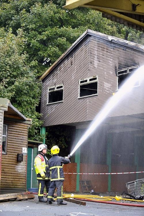 Office block destroyed in blaze at derelict Denholme mill