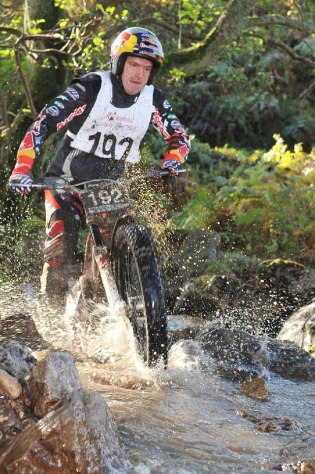 Dougie Lampkin was second in Scott Trial