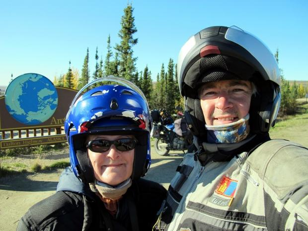 l Darren and Leigh Mitchell during their motorcycle journey from the furthest point north by road, in Alaska, to the furthest point south, Tierra del Fuego, in South America
