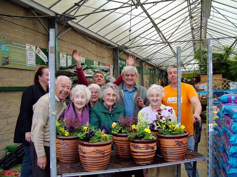 Members of the Bradford Shares Harden Garden project