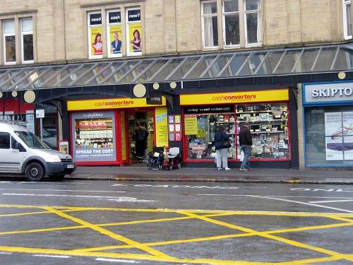 The Cash Converters store in Cavendish Street in Keighley     targeted on Saturday