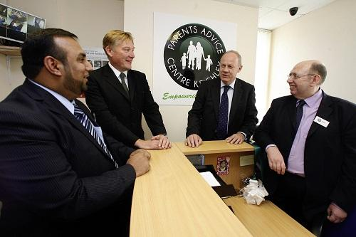 Immigration minister Damian Green, second right, joins MP Kris Hopkins, second left, at the opening of the Parents Advice Centre Keighley last year with chairman Naz Mohammed and John Toothill, right