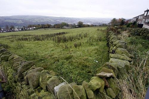 The site off Shann Lane in Keighley where developers want to build houses