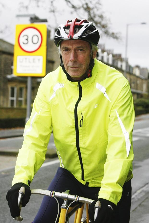 John Fearnley, who is pressing for speed limit cuts in Skipton Road, Keighley