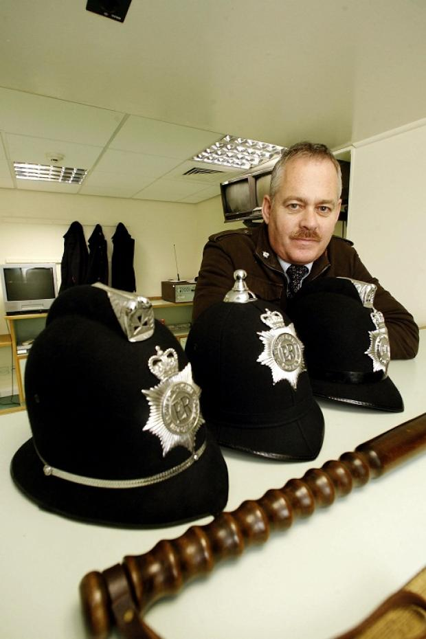 Andy Wade, chairman of Keighley and District Local History Society, in the Police Museum at Keighley Civic Centre