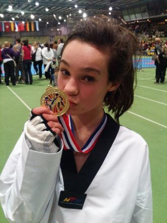 Golden double for Leah Moorby