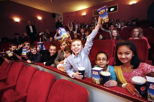 Children from St Joseph's Primary School enjoy their film premiere at the Picture House