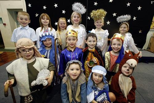 Pupils at Lees Primary School performed Celebrate This Christmas in front of a packed audience