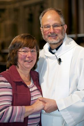 The Rev Peter Mayo-Smith and his wife Eileen, who will celebrate 39 years of marriage