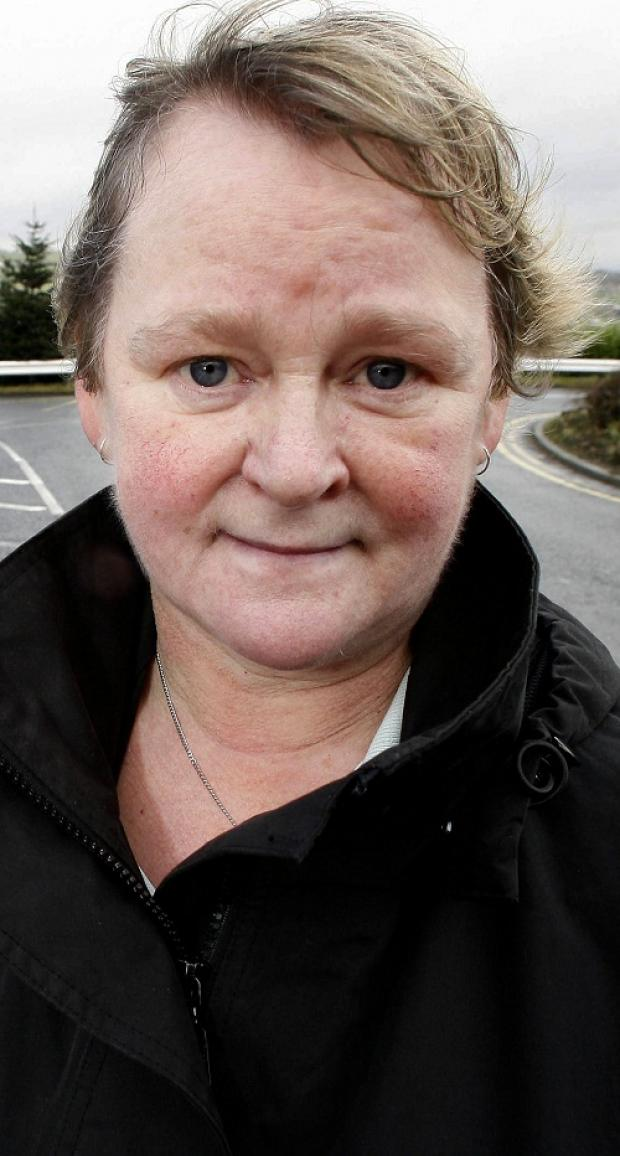 Airedale Hospital laundry worker, Jeanette Wilson, who is among those at risk of losing their job