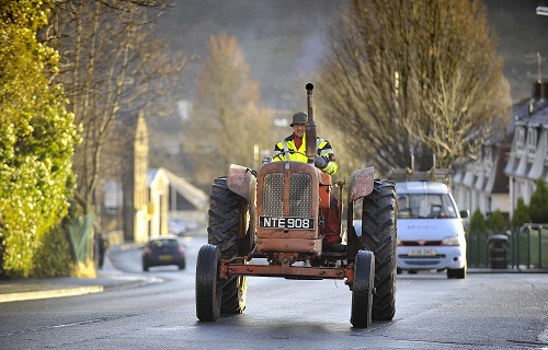 One of the vintage tractors