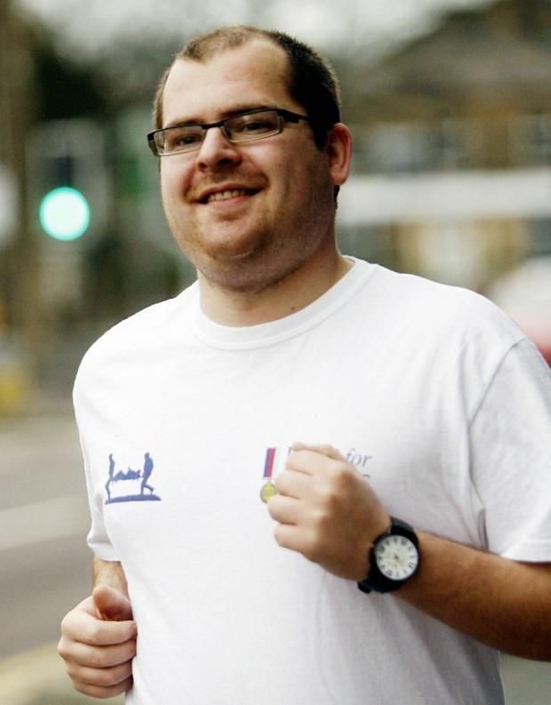 Keighley man Colin Powell, who is taking part in a charity run