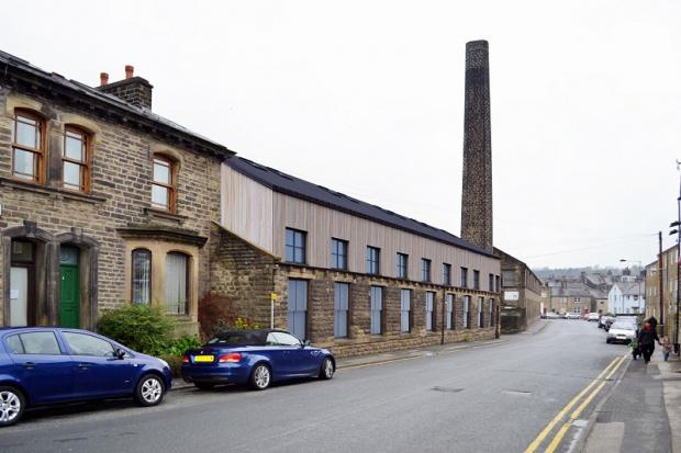 An artist's impression of how the Silsden mill building will look from Howden Road once it is redeveloped