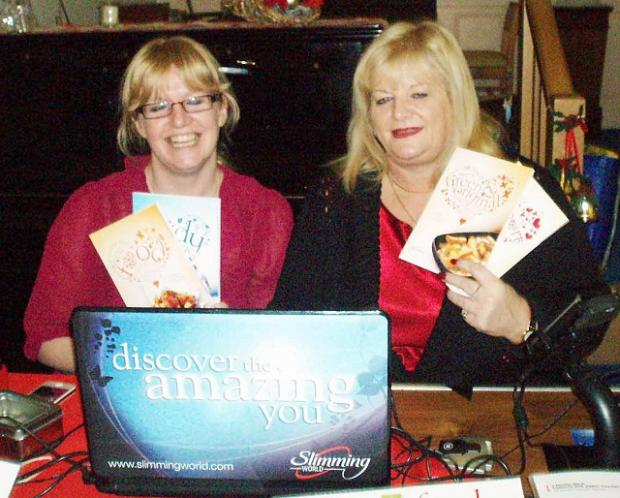 Slimming World group leaders Carla Weatherall (left) and Andrea Astin