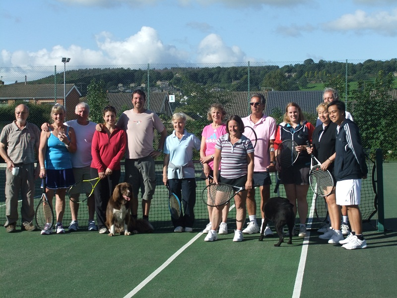 Crosshills Tennis Club members during last year's Lyn's Day, when they remember one of their members, Lyn Ferguson, who died of cancer