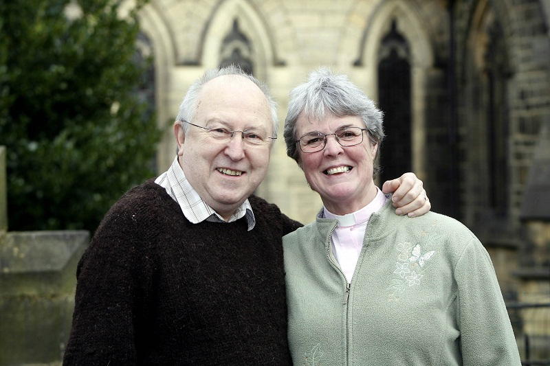 The Reverend Jenny Savage and husband Ed