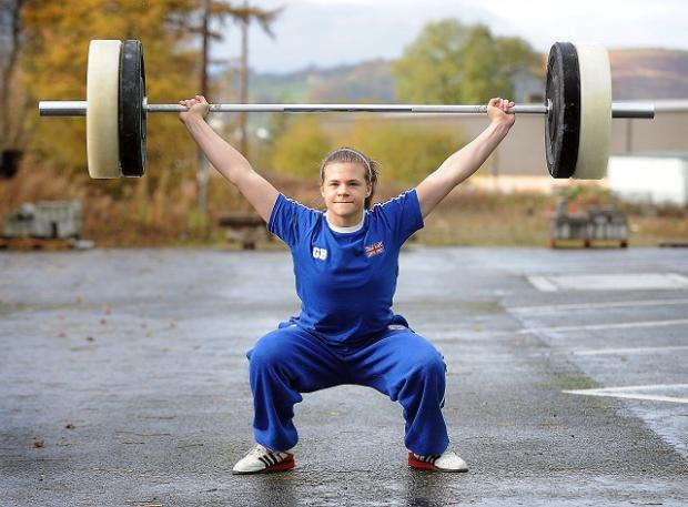 Rebekah Tiler, 13, is making a name for herself as Britain's strongest child