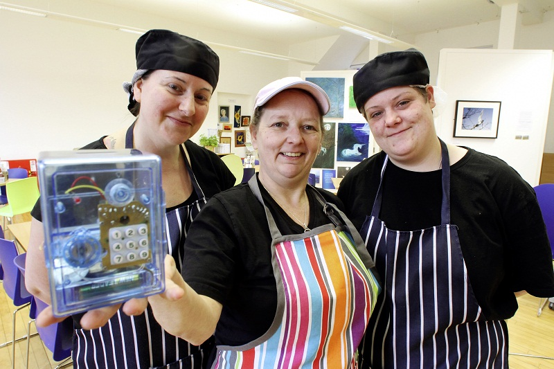 Cafe Hope staff (from left) Sandra Voce, Tracey Thomas and Liane Feather, who will help raise cash for the Phoenix School appeal with, among other events, a safe-cracker competition