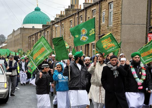 Keighley News: The parade