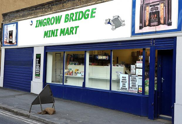 The scene of the attempted robbery at Ingrow bridge Mini Mart