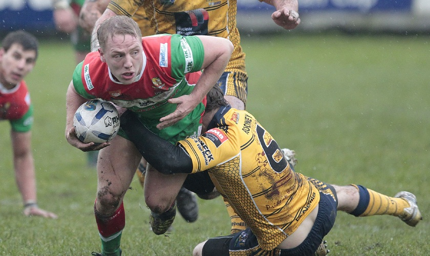 Paul White scored one of Keighley's two tries. Picture: Charlie Perry