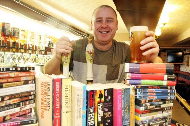 Landlord Mickey Thompson has set up a library in the Great Northern pub at Ingrow