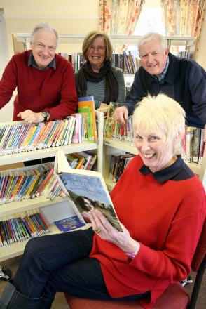 Wilsden's volunteer library squad: from left, Simon Dickerson, Jenny Hopkins, Michael Moran and Dorothy Bexon