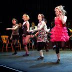 Keighley News: Dancers perform on stage in the Demon Barbers Lock-In show