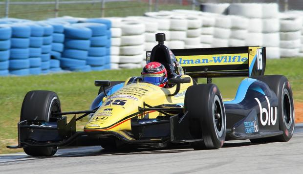 Jack Hawksworth on his first IndyCar test