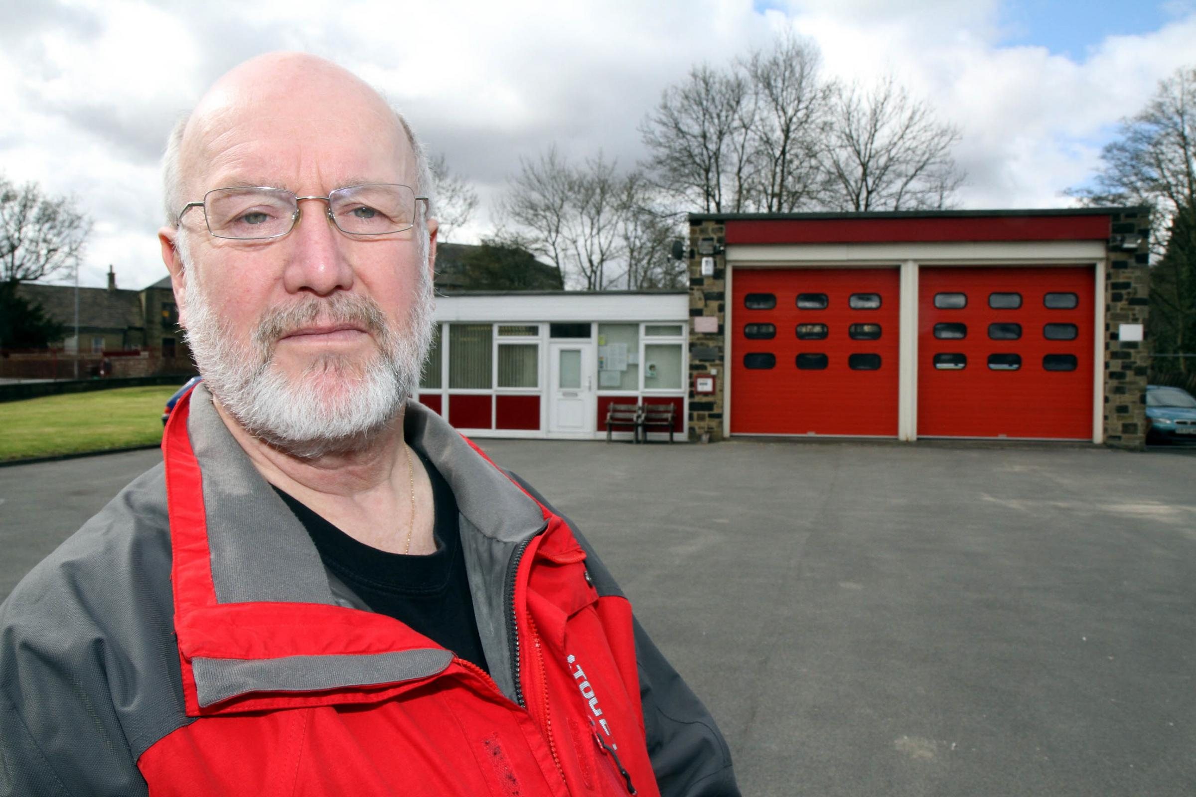 Councillor John Huxley, who is spearheading the campaign to maintain some level of service at Haworth Fire Station