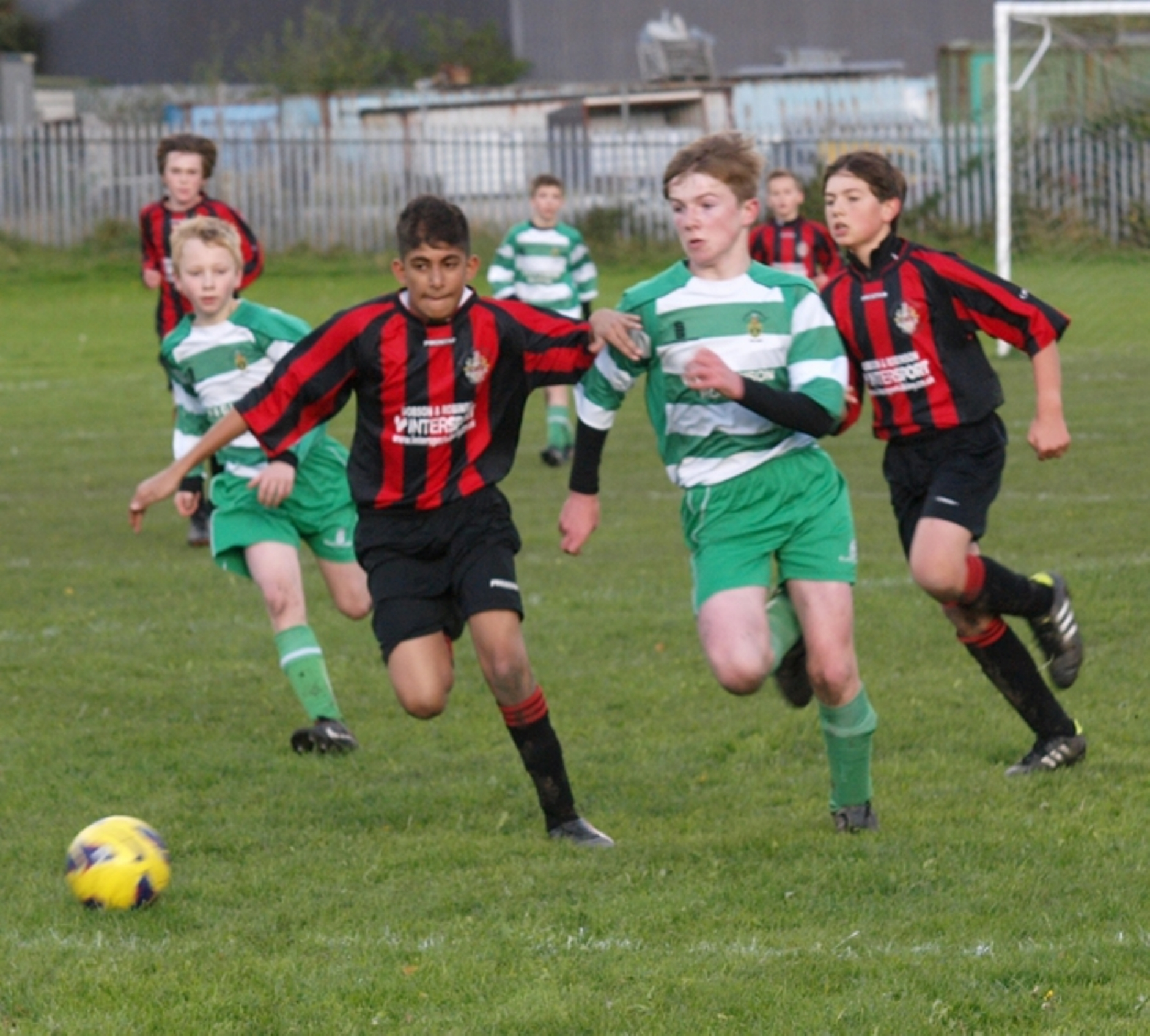 Action from Shamrocks' win over Bingley. Picture by Mike Breeze