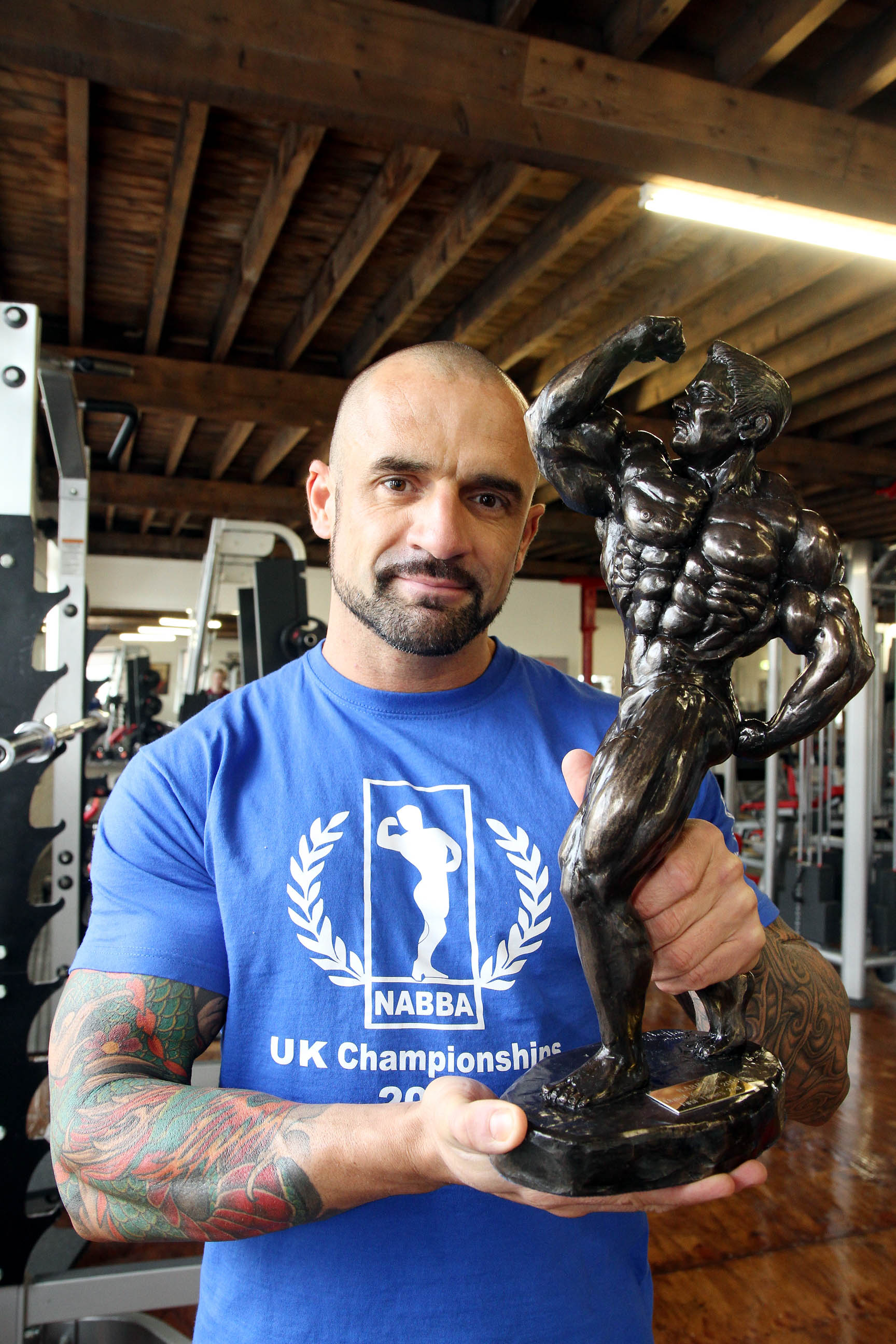 Bodybuilder, Nick Hindle, who has secured his place in a prestigious competition final